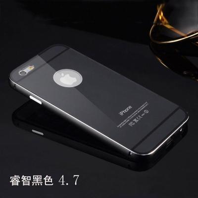 iphone6手机壳保护套iphone 6plus手机套iphone6金属边框壳 黑色4.