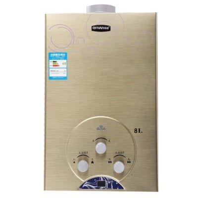 燃气热水器jsg168a(03)无氧铜土豪金8升平衡式燃气热水器液化气图片