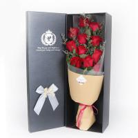 春舞枝 鮮花速遞11朵玫瑰花束 紅玫瑰送女友 白玫瑰生日鮮花 粉玫瑰創意禮品鮮花配送 11枝白玫瑰C