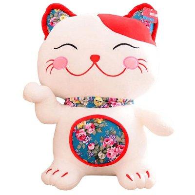 日本和风刺绣招财猫发财公仔儿童毛绒玩具布娃娃生日