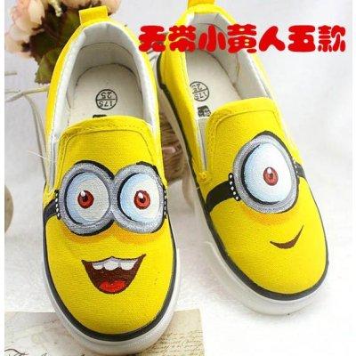 手绘亲子鞋男童儿童帆布鞋子
