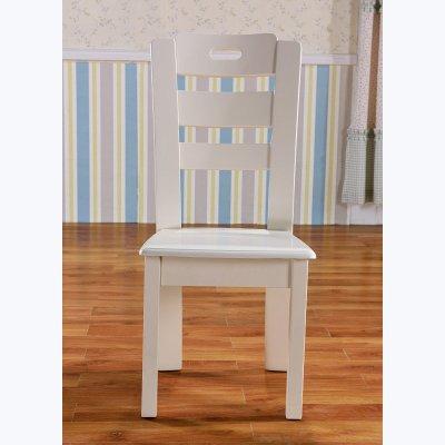 优家优乐欧式田园风格餐椅简约组合家具白色椅子韩式