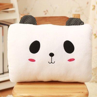 卡通熊猫手捂暖手筒 抱枕