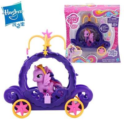 正品孩之宝小马宝莉可爱标志系列紫悦马车套装b0359