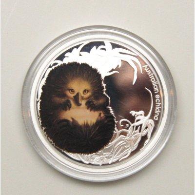 澳大利亚 丛林动物幼崽系列 针鼹纪念银币