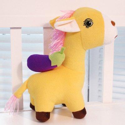 安吉宝贝可爱马上有一切毛绒玩具马公仔 马上有玩具马玩偶布娃娃 马上