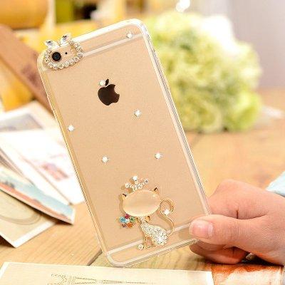5英寸iphone6splus手机套6splus硅胶v硅胶壳防摔女水钻壳皇冠内衣猫咪女加厚特厚图片