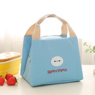 绿盒子 手提便当袋 保温饭盒包 可爱卡通大白便当包 防水学生饭盒袋