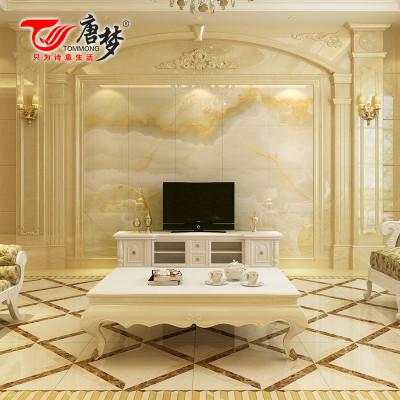 瓷砖背景墙 欧式客厅仿大理石