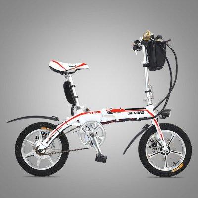gamma/捷马电动车14寸电动自行车48v锂电车折叠车白领