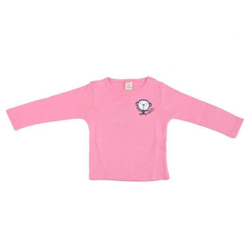 显丹木棉毛小童卡通猴t恤x22203[粉90]