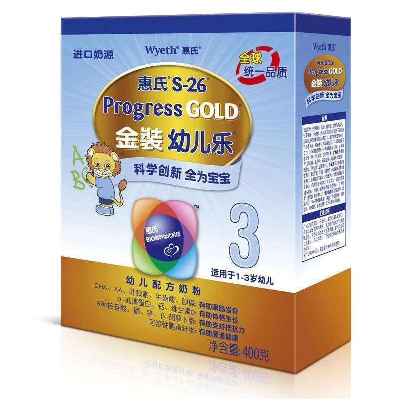 Wyeth 惠氏 金装幼儿乐 3段幼儿配方奶粉 400g*7盒