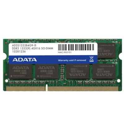 ADATA 威刚 DDR3 1333 4GB 笔记本内存