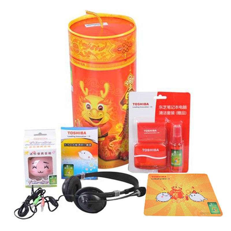 东芝五福礼包 (内含耳麦、迷你便携音响、计算器、鼠标垫、电脑清洁套装)