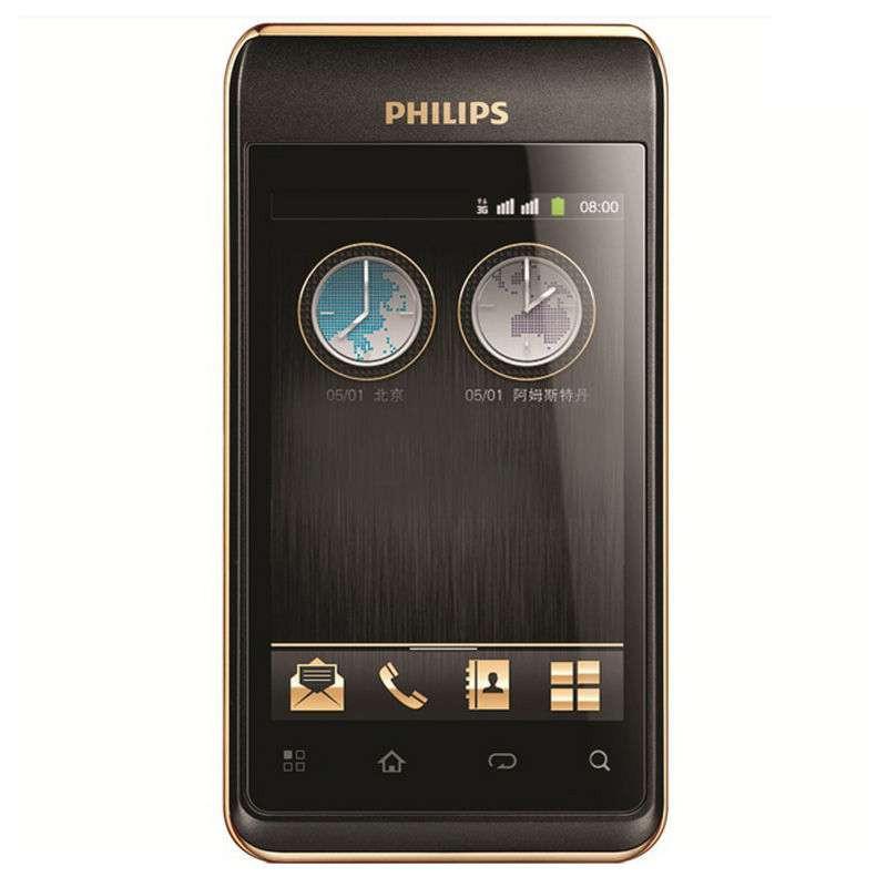 飞利浦(philips)w930 3g手机(尊爵黑)wcdma/gsm   w930(wg-高清图片