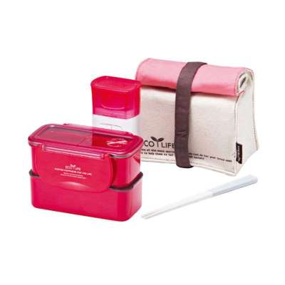 乐扣乐扣 HPL742P1 mini水杯便当盒套装 105元(下单6折 即63元包邮)