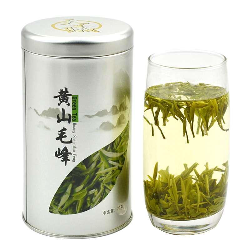 天曦茗茶安徽黄山特产名茶毛峰绿茶(70克罐装