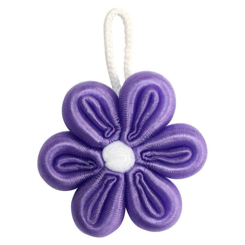 钩针发夹小花朵图解