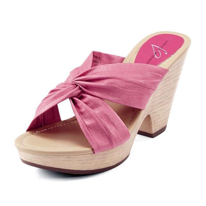 编织梦幻一体跟凉鞋