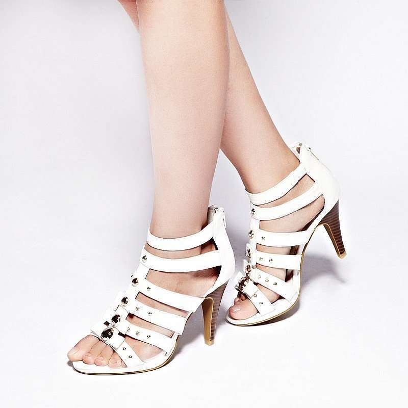 罗马闪耀系踝高跟女凉鞋