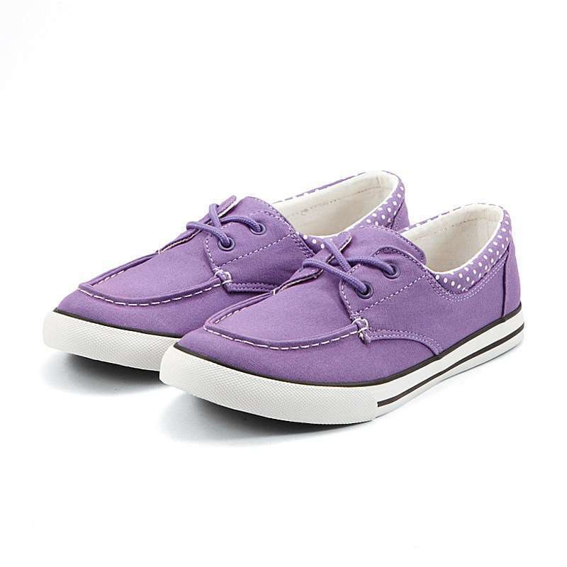 girl-帆船纯色帆布鞋
