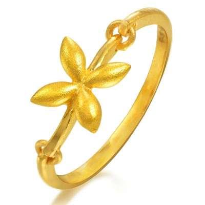 周生生 黄金(足金)橄榄花戒指 13# 15910r (2.4克)