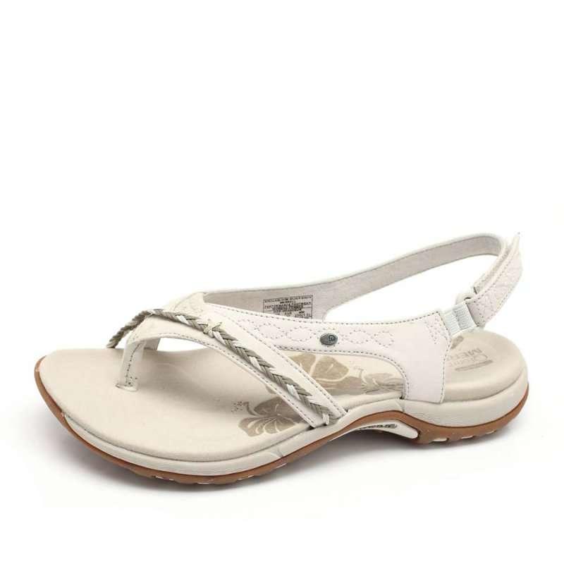 迈乐2012年白色头层牛皮休闲凉鞋女鞋