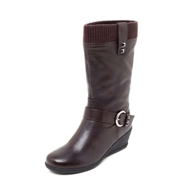 北京 玻璃/Belle百丽冬季啡小牛/啡毛线筒女靴3MF72R35