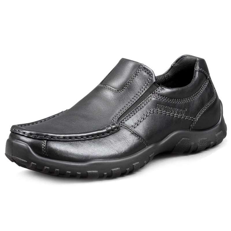 jumbougg简帛新品头层牛皮日常商务度假休闲皮鞋男鞋