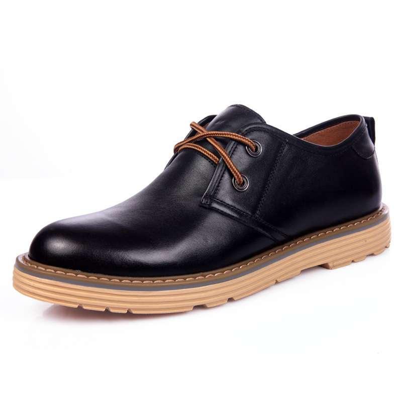simier斯米尔男鞋男士大头鞋商务休闲低帮皮鞋a09-14