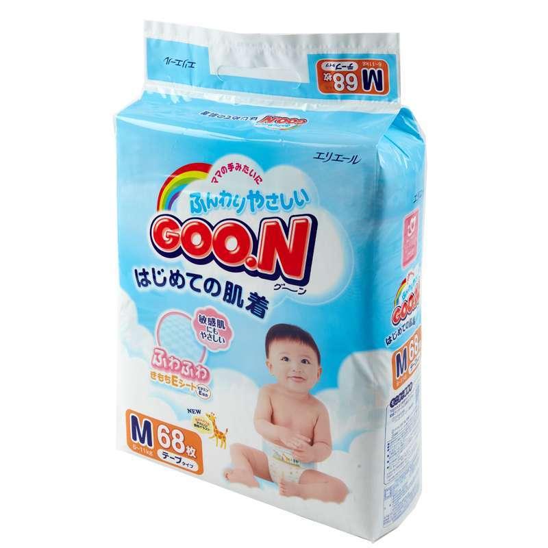 GOO.N 大王 婴幼儿纸尿裤 M号68片