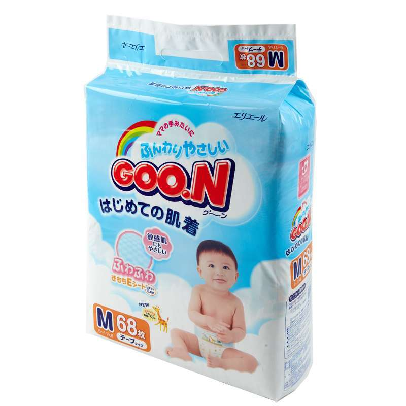 GOO.N 大王 维E系列 婴幼儿纸尿裤 M68/NB90/L54/XL42/S84