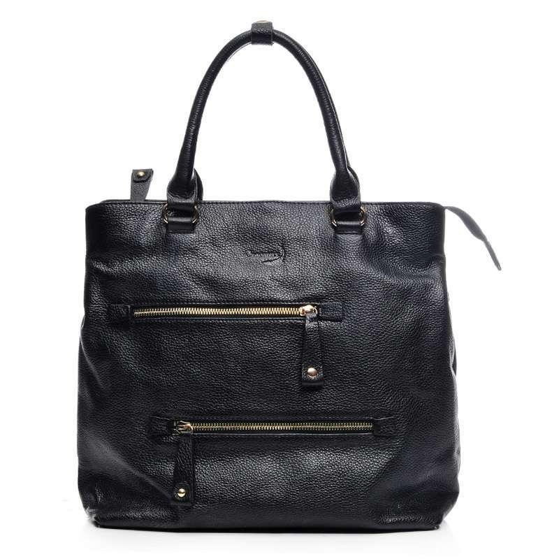 真皮包包女士手提包机车包欧美复古黑色大包包121130