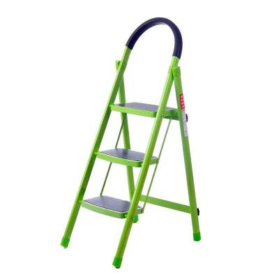 密林MILIN ML-TL03  D型管 宽踏板家用折叠梯子 绿色 三步梯 ¥216-100,另有四步、五步
