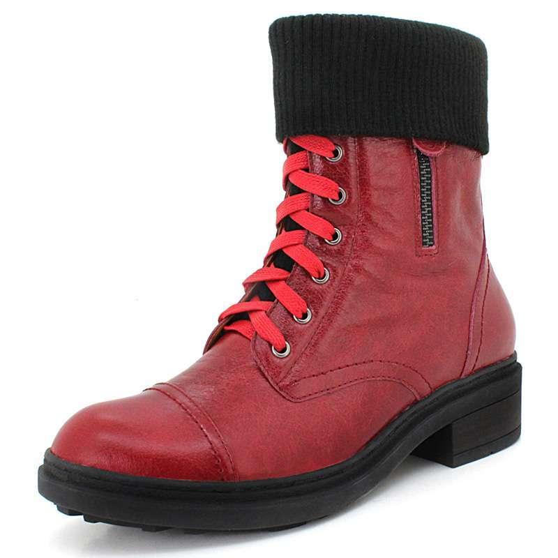 中筒靴pw11302冬季马丁靴女士靴子红色37-苏宁电器网