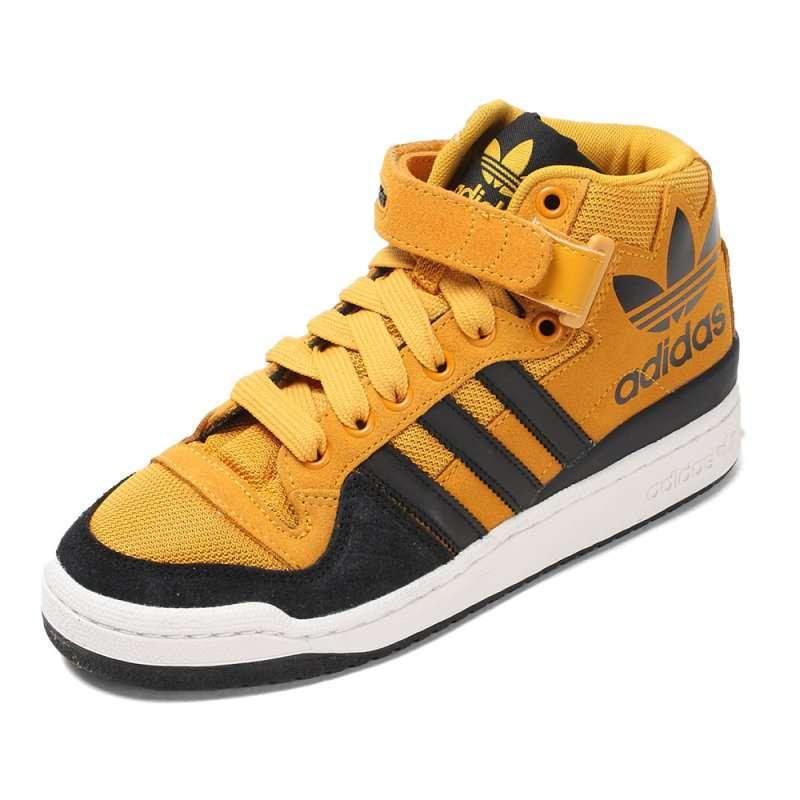 adidas阿迪三叶草2012高帮帅气休闲鞋g60542金色41