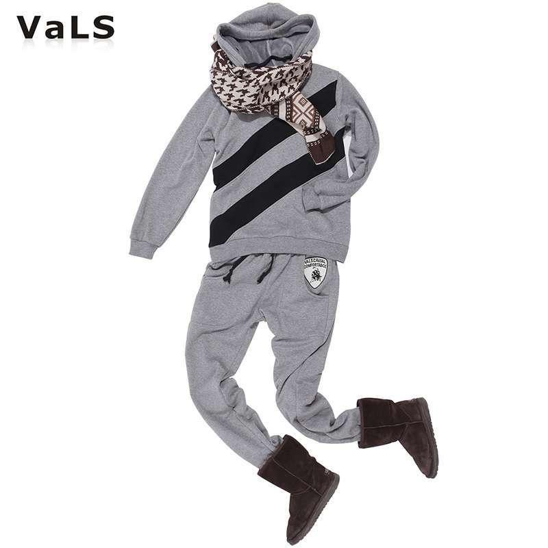 男士加绒保暖卫衣卫裤韩版运动套装040200010