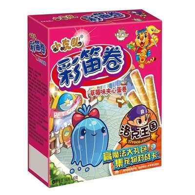 小朋友的狂欢,康师傅小虎队彩笛卷草莓味 40g*24盒 整箱 ¥44