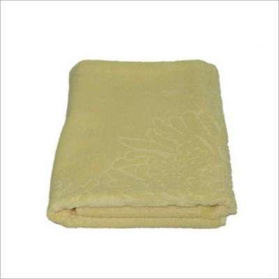 巾品世家竹纤维菊浴巾2096(黄色)