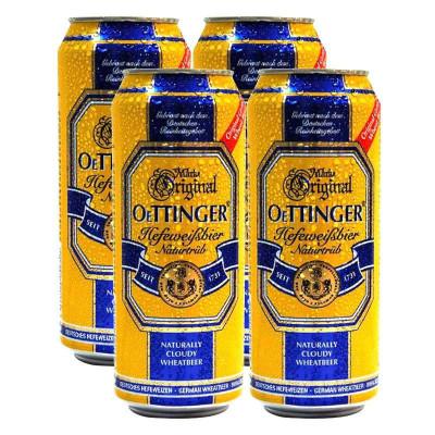 OETTINGER 奥丁格 自然浑浊型 小麦啤酒(500ml*4)