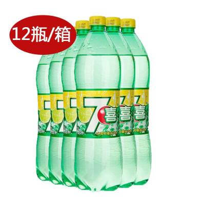 七喜柠檬味汽水1.25L箱装(12瓶/箱) ¥55,下单对折,临期