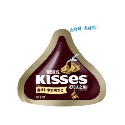好时 KISSES好时之吻扁桃仁牛奶巧克力82g¥14.9,叠加100-30