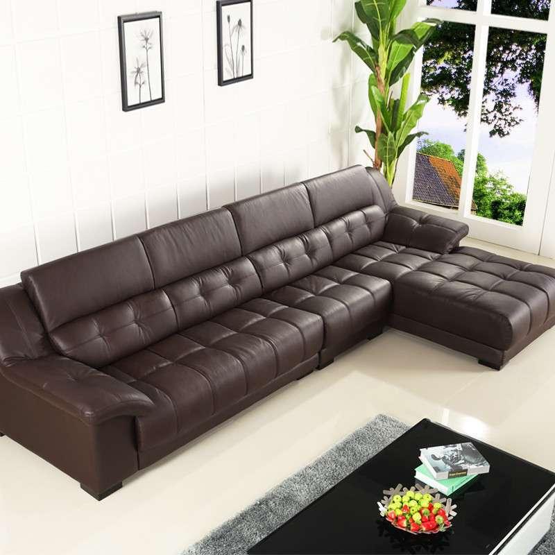 乐和居 客厅家具 真皮沙发 头层牛皮 左右欧式 皮沙发