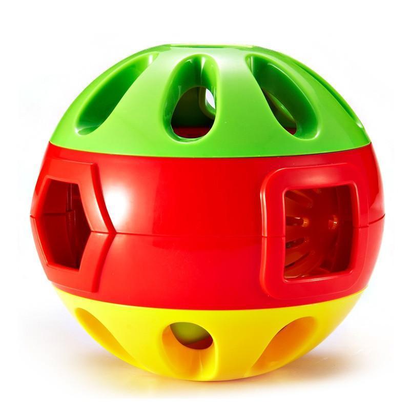 贝玩具 响铃滚滚球 婴儿铃铛 手抓球 学爬行玩具 宝宝玩具 适合6M