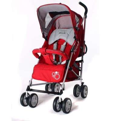 Pouch铝合金超小轻便婴儿推车伞车可躺S900 红色
