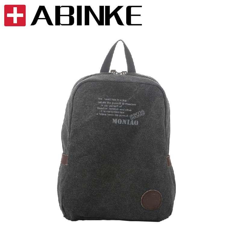 宾柯(abinke)韩版双肩帆布背包 中学生书包 男士休闲双肩包 旅行包女图片