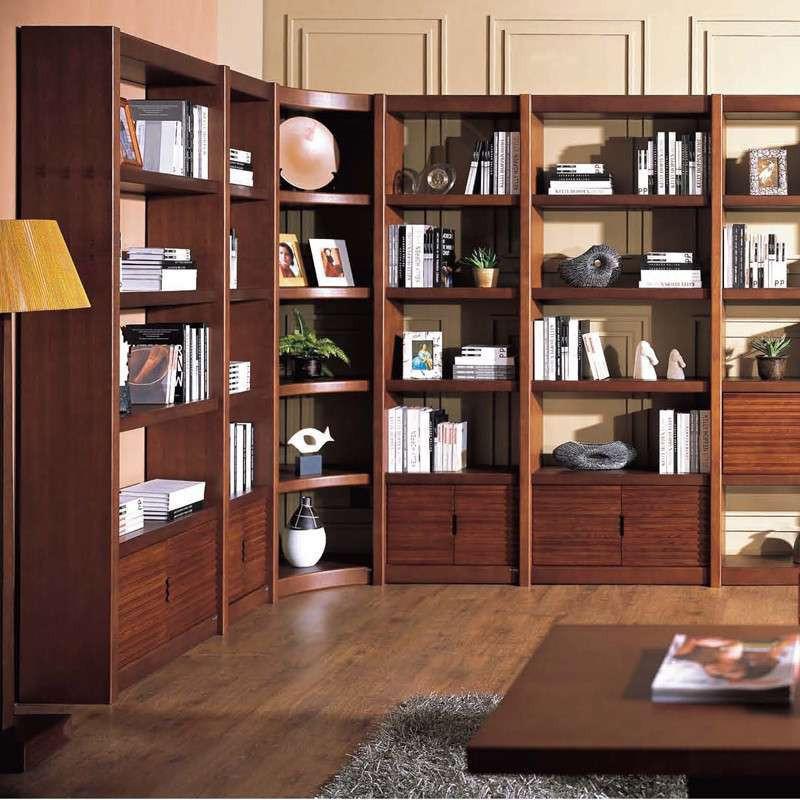 惠宜后现代l型水曲柳组合书柜商务办公家居书房书柜图片