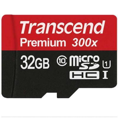 Transcend创见 32G 300X系列MicroSD高速存储卡¥79