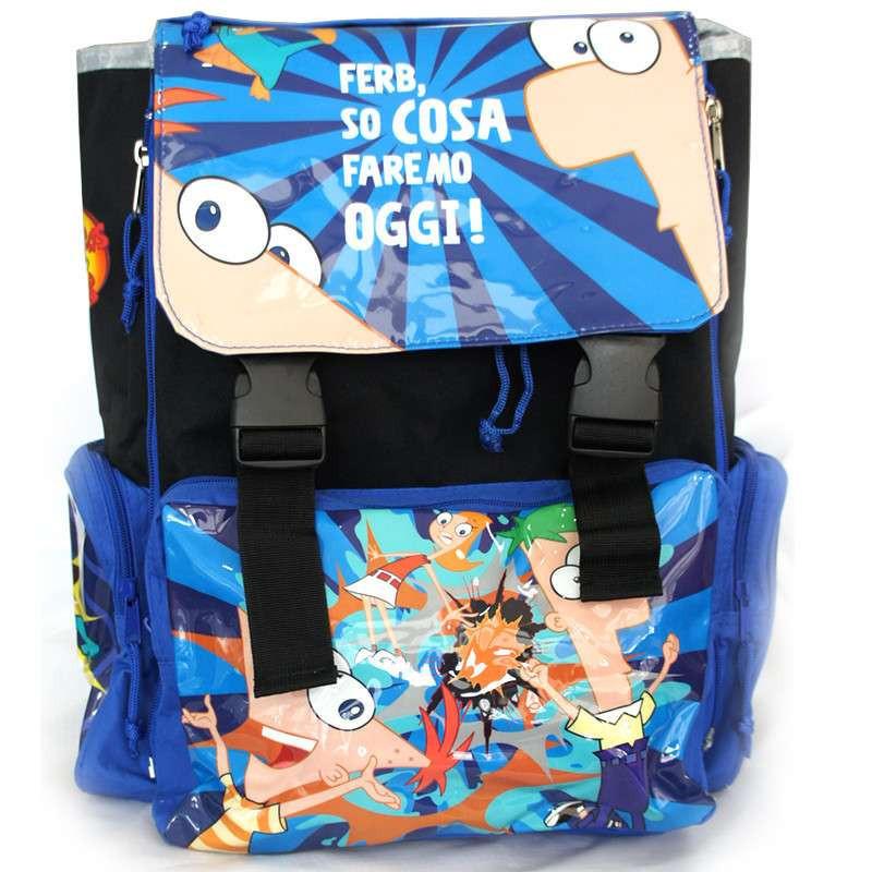 迪士尼disney飞哥与小佛儿童书包学生双肩背包蓝色