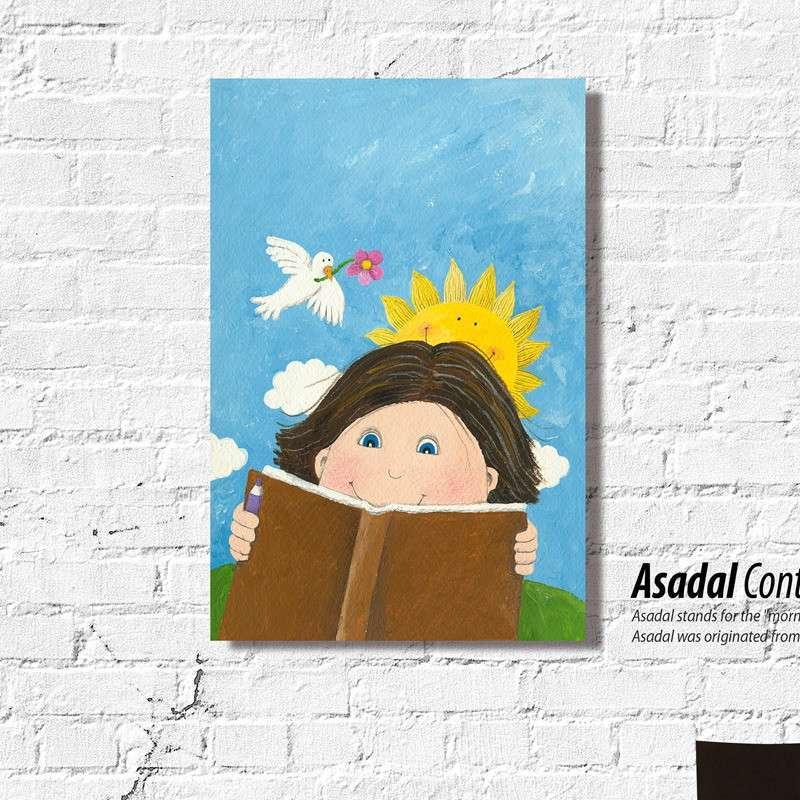 jm403卡通装饰画 儿童房 小孩房挂画卧室壁画可爱插画